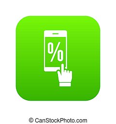 Percent on screen icon green