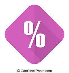percent pink flat icon