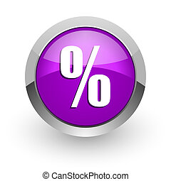 percent pink glossy web icon