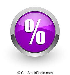 percent pink glossy web icon