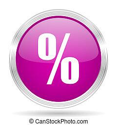 percent pink modern web design glossy circle icon