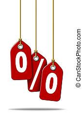 Percent Price Tags Sale