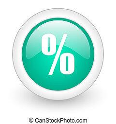 percent round glossy web icon on white background