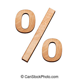Percent sign on white
