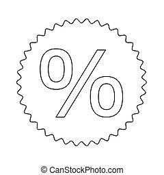 percent symbol icon illustration design