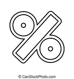 percent symbol isolated icon vector illustration design