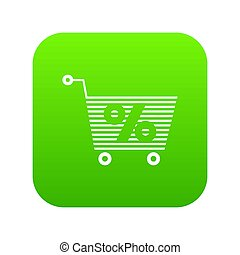 Percent trolley icon green
