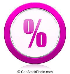 percent violet icon