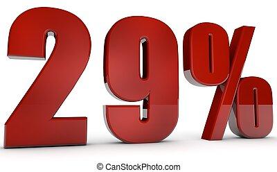 percent,29