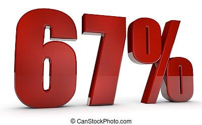 percent,67