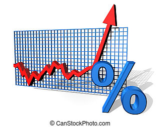 Percentage chart - Illustration of a percentage chart on the...