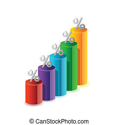 percentage color graph illustration