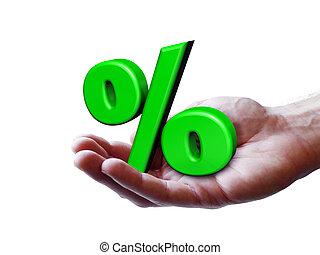 percentage, concept, zakelijk