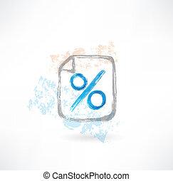percentage grunge icon