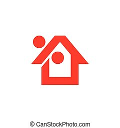 percentage home sale simple logo vector