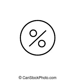 Percentage icon. Discount percent isolated. Modern flat pictogram, business, marketing, internet concept. Trendy simple vector symbol for web site design or button to mobile app. Logo illustration.