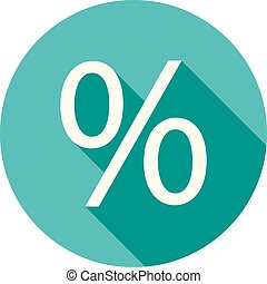 Percentage, portion, fraction icon vector image. Can also be...