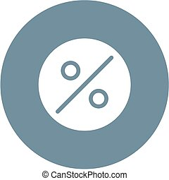 Percentage, portion, fraction icon vector image.Can also be...