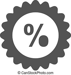 Percentage, price, discount icon vector image. Can also be ...