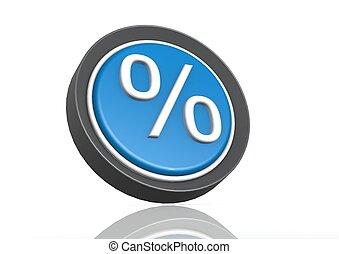 Percentage round icon in blue
