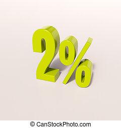 Percentage sign, 2 percent