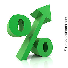 Percentage sign concept 3d illustration