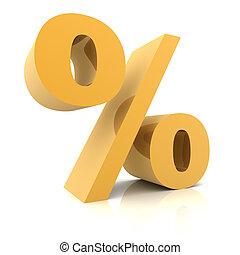 Percentage sign concept  3d illustration