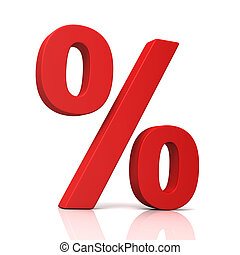 percentage sign concept illustration