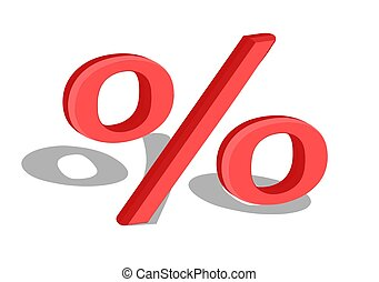 percentage sign isolated on a white background