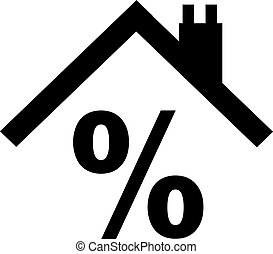 Percentage sign with roof