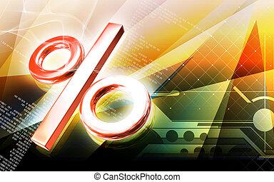 percentage symbol - Digital illustration of percentage...
