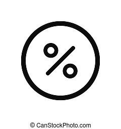 Percentage vector icon, discount symbol in modern design style for web site and mobile app