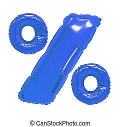 percentages dark blue color