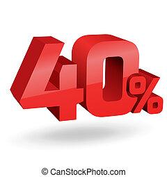percento, 40, illustrazione