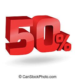 percento, 50, illustrazione