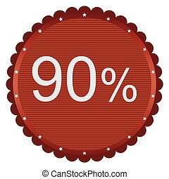 percento, 90, vendita