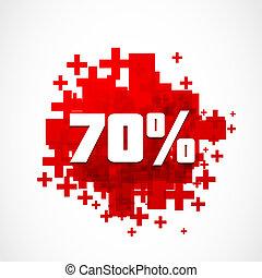 percento, astratto, spento, fondo, 70