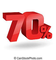 percento, illustrazione, 70