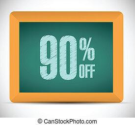 percento, scontare, messaggio, 90