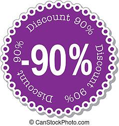 percento, scontare, novanta