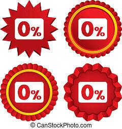 percento, simbolo., segno, credito, zero, icon.