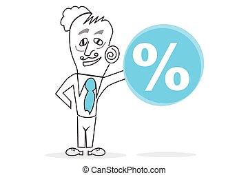 &, percento, umano, segno