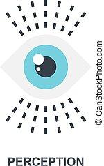 Perception icon concept