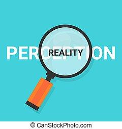 perception, réalité, trouver, vérité, magnifier