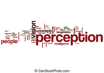 Perception word cloud concept