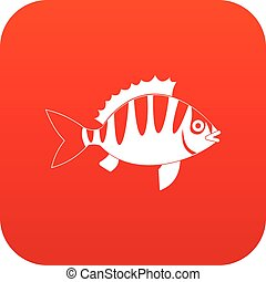 Perch icon digital red