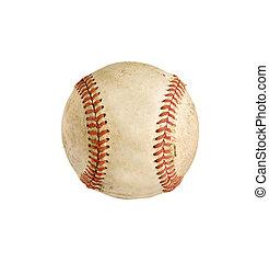 percorso, baseball, isolato