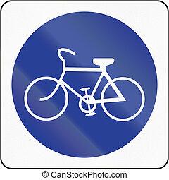 percorso, bicicletta, brunei