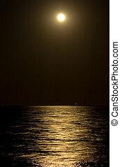 percorso, chiaro di luna