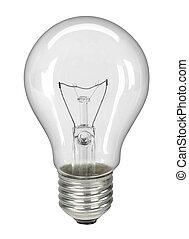 percorso, lightbulb, ritaglio, isolato, -, bianco